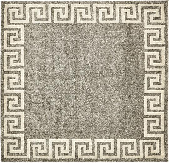 Gray 8 X 8 Greek Key Square Rug Area Rugs Irugs Uk
