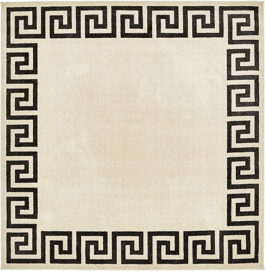 8u0027 x 8u0027 greek key square rug
