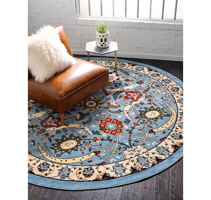 8' x 8' Isfahan Design Round Rug