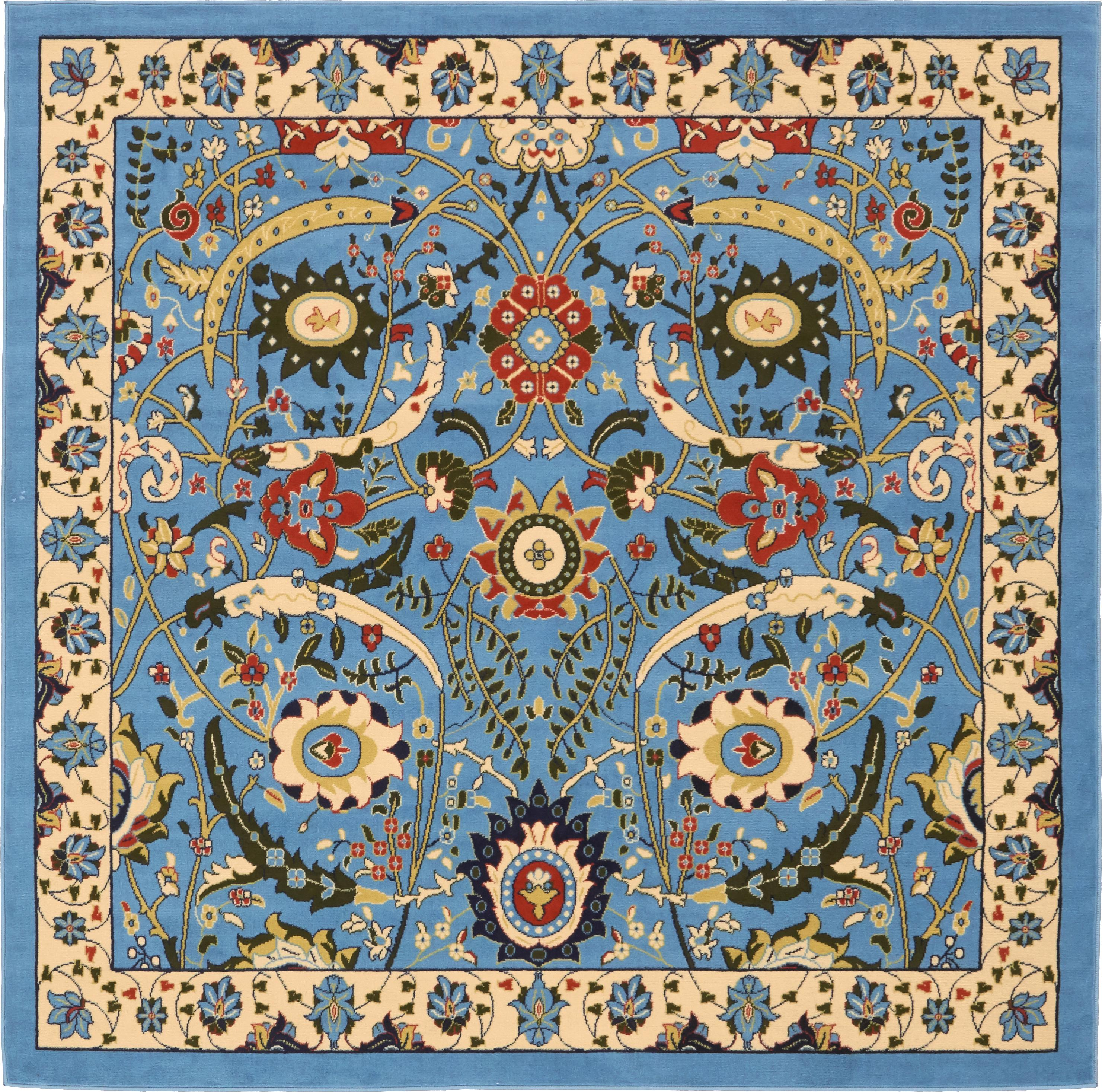 46d78ad46c9 Blue 8  x 8  Isfahan Design Square Rug