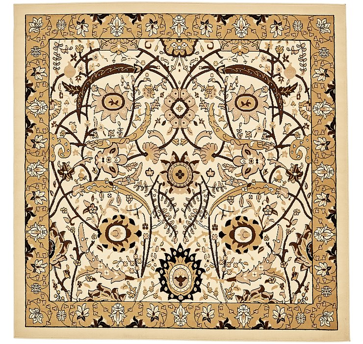 8' x 8' Isfahan Design Square Rug