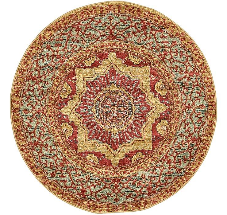 Red Amina Round Rug