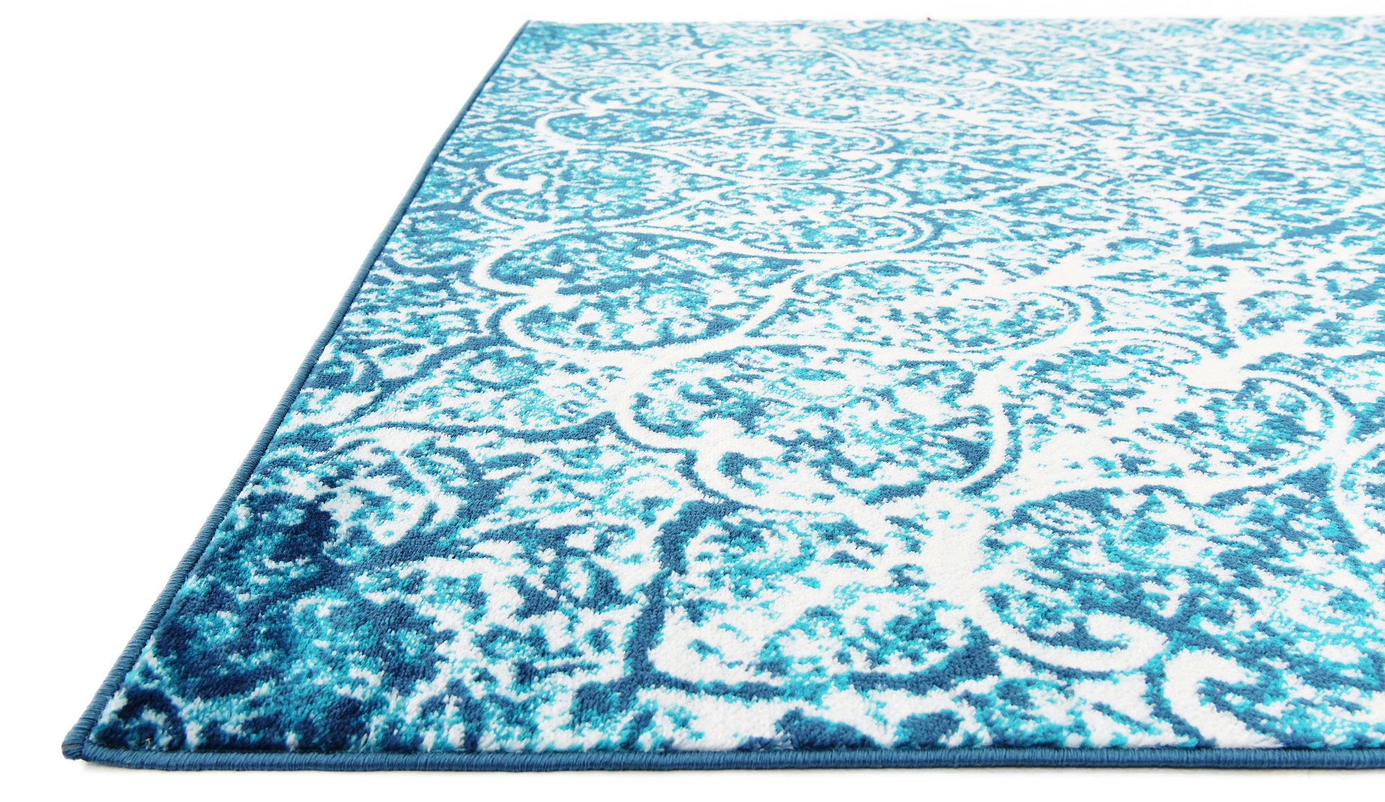 Transitional Medallion Faded Design Area Rug Traditional