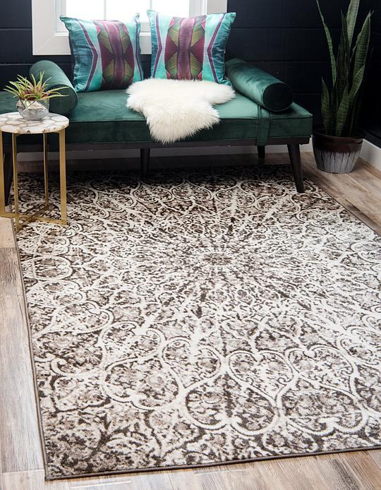 brown 4' x 6' monaco rug | area rugs | esalerugs 4x6 Rug