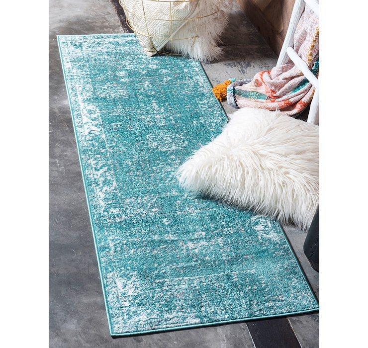 Turquoise Monte Carlo Runner Rug