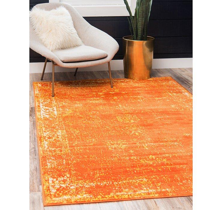 Orange Monte Carlo Rug