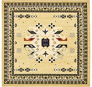 Link to 8' x 8' Heriz Design Square Rug