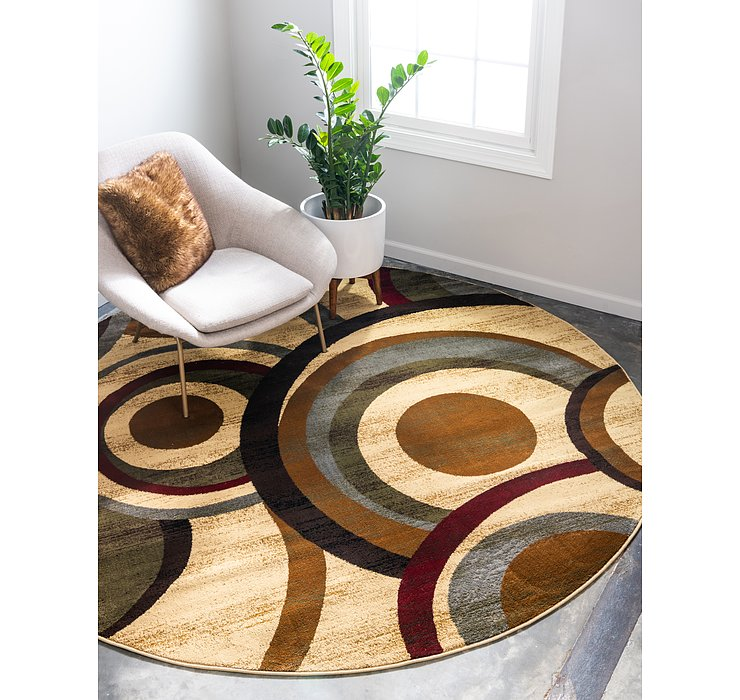 4' x 4' Coffee Shop Round Rug