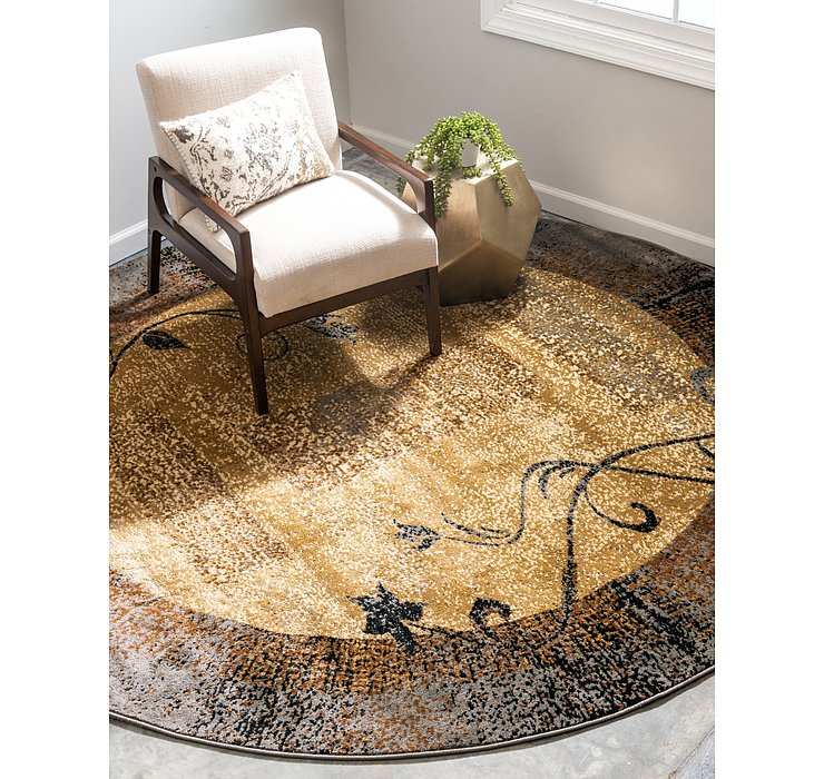 8' x 8' Coffee Shop Round Rug