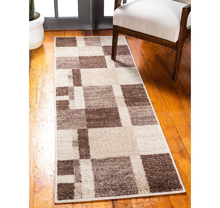 Light Brown Equinox Runner Rug