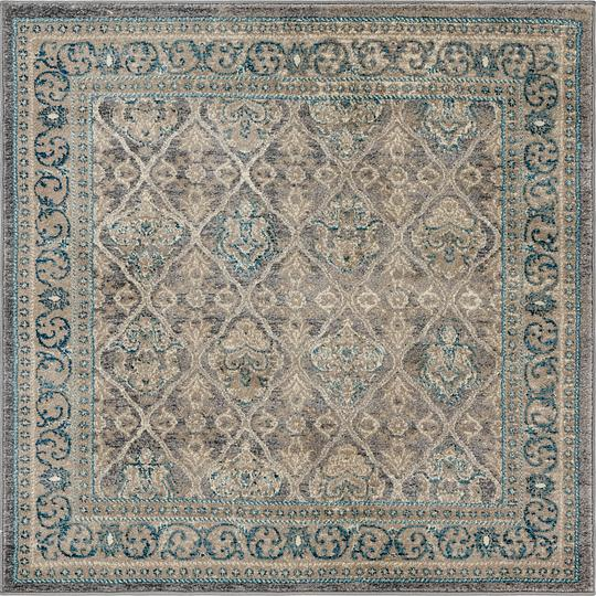 Gray 4 39 x 4 39 vienna square rug area rugs irugs uk for Garden shed 3x5