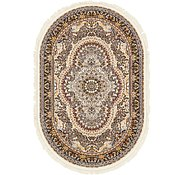 Link to 152cm x 235cm Nain Design Oval Rug