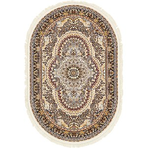 Unique Loom 5' x 7' 8 Narenj Oval Rug