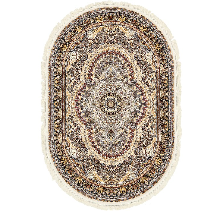 5' x 7' 8 Nain Design Oval Rug