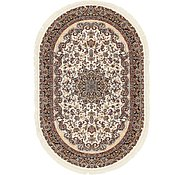 Link to 5' x 7' 7 Mashad Design Oval Rug