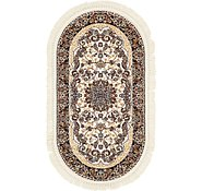 Link to 2' 7 x 5' Mashad Design Oval Rug