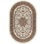 Link to 6' 3 x 9' 6 Mashad Design Oval Rug