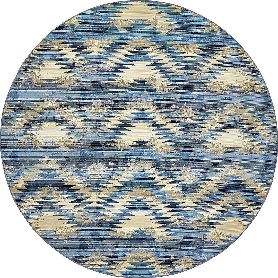 8 x 8 outdoor modern round rug