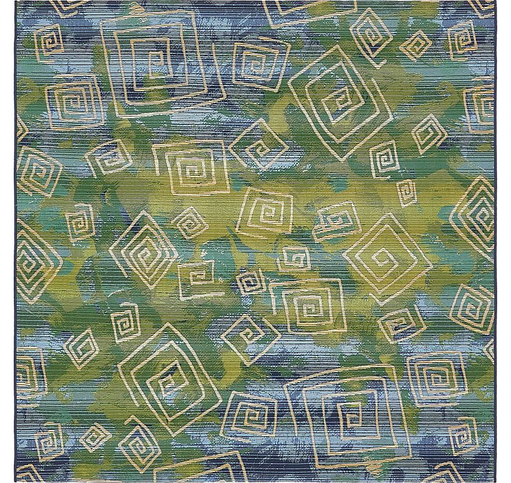 6' x 6' Outdoor Modern Square Rug