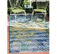 Link to Unique Loom 8' x 11' 4 Outdoor Modern Rug