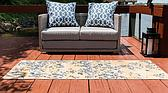 2' x 6' Outdoor Botanical Runner Rug thumbnail