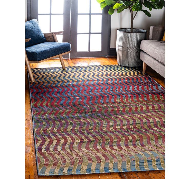 Unique Loom 8' x 11' 4 Outdoor Modern Rug