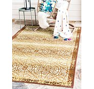 Link to Unique Loom 5' 3 x 8' Eden Outdoor Rug