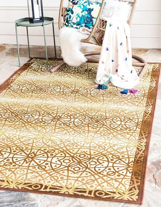 beige 10 39 x 12 39 outdoor trellis rug area rugs esalerugs. Black Bedroom Furniture Sets. Home Design Ideas