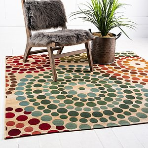 Unique Loom 6' x 6' Outdoor Modern Square Rug