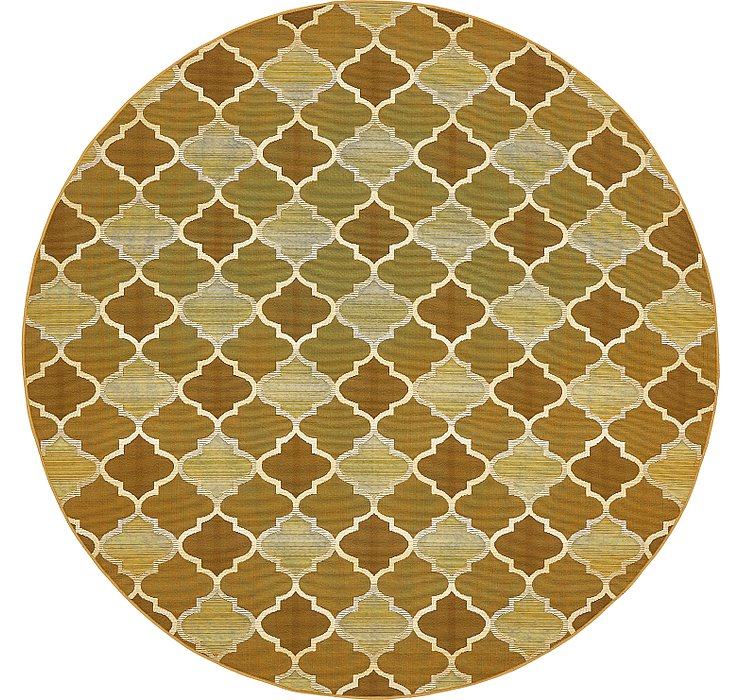 8' x 8' Outdoor Lattice Round Rug