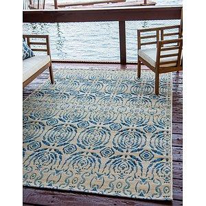Unique Loom 8' x 11' 4 Outdoor Modern Rug
