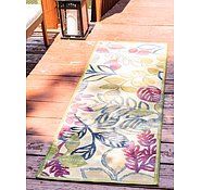 Link to Unique Loom 2' x 6' Outdoor Botanical Runner Rug