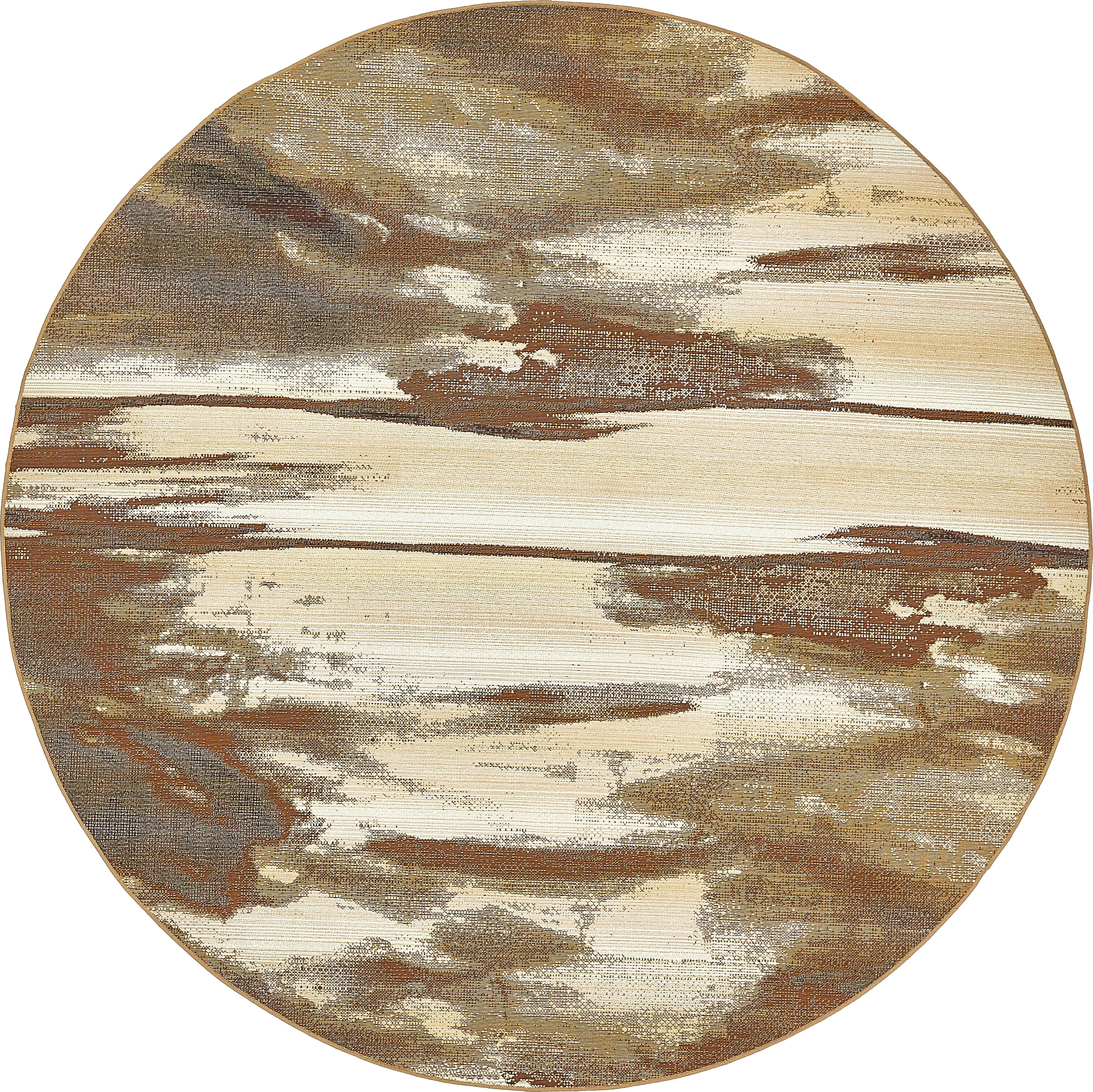 Brown 8 X 8 Outdoor Modern Round Rug Area Rugs Rugs Ca