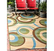 Link to 5' 3 x 8' Outdoor Modern Rug
