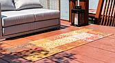 Unique Loom 2' x 6' Outdoor Botanical Runner Rug thumbnail image 2