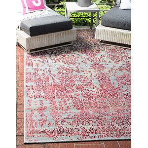 10' x 12' Outdoor Botanical Rug