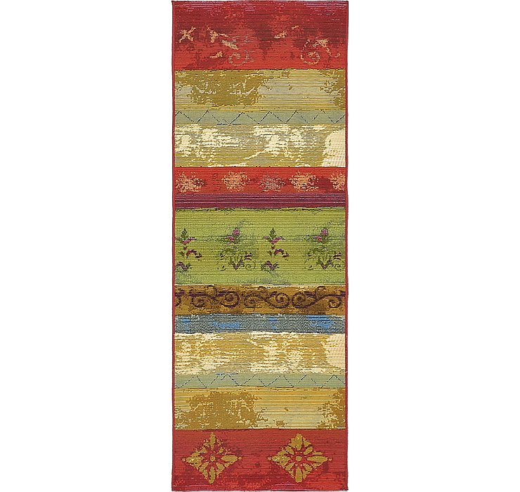 2' x 6' Outdoor Modern Runner Rug