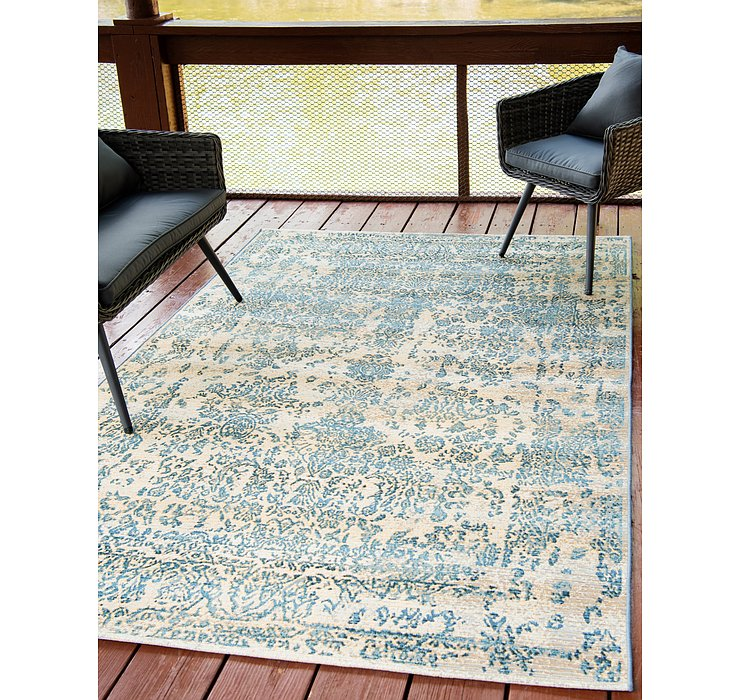 160cm x 245cm Outdoor Botanical Rug