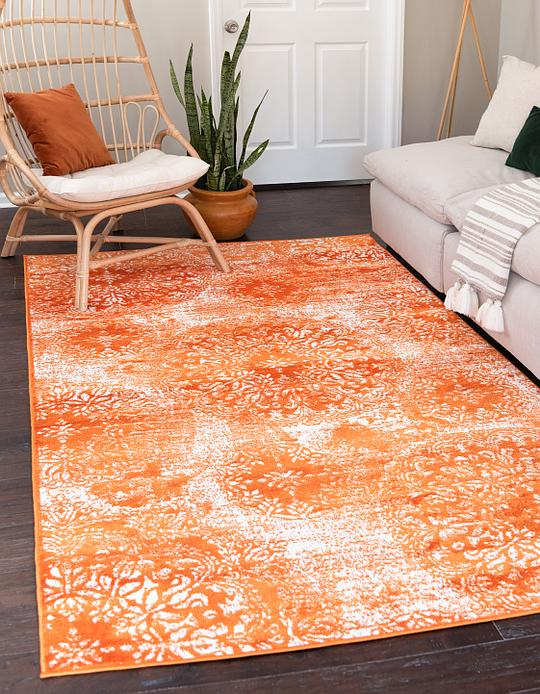 Orange 8 X 10 Monaco Rug Area Rugs Esalerugs