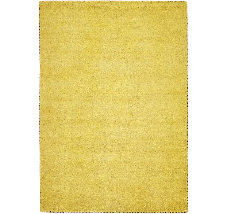 Yellow Solid Gabbeh Rug