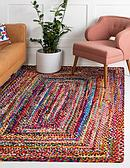 3' 3 x 5' Braided Chindi Rug thumbnail image 1