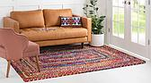 3' 3 x 5' Braided Chindi Rug thumbnail image 2