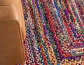 3' 3 x 5' Braided Chindi Rug thumbnail image 5