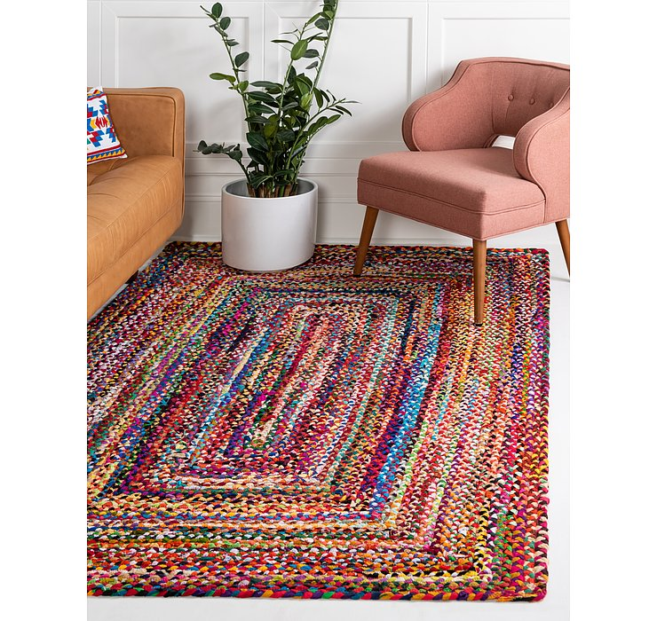 3' 3 x 5' Braided Chindi Rug