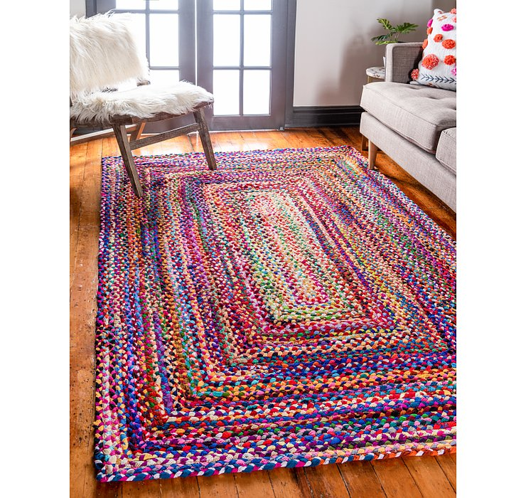 Multi Braided Chindi Rug