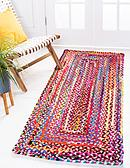 75cm x 183cm Braided Chindi Runner Rug thumbnail image 1