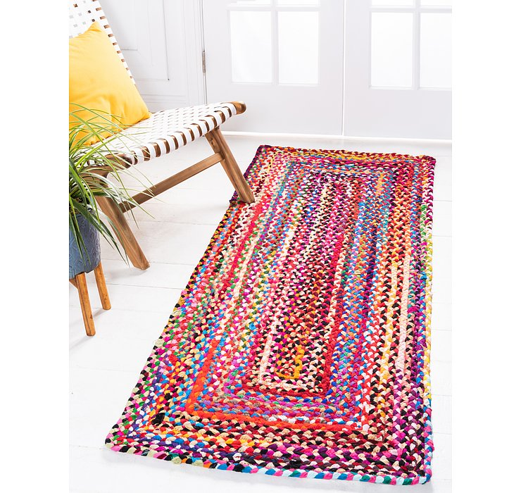 Multi Braided Chindi Runner Rug