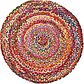 Unique Loom 3' 3 x 3' 3 Braided Chindi Round Rug thumbnail image 17