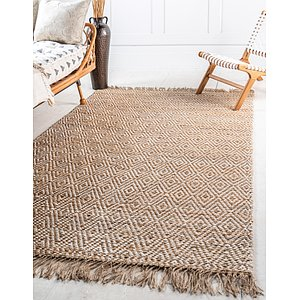 Unique Loom 4' x 6' Braided Jute Rug