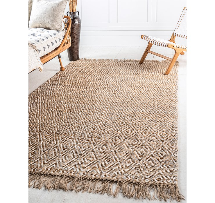 Natural Braided Jute Rug